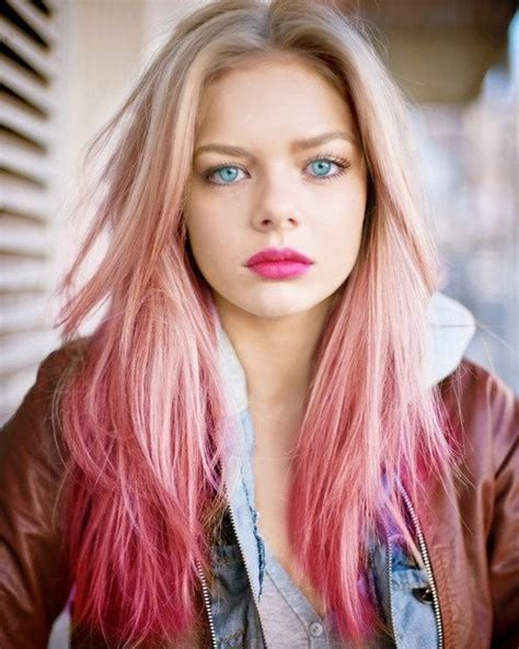 Beautiful Blonde To Pink Ombre Hair Look In 2019 Blonde