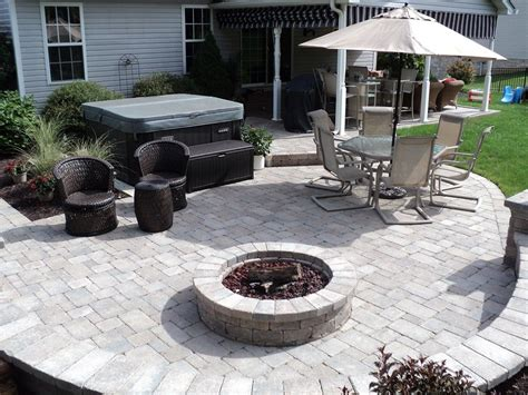 Patios With Tubs by Desiner Back Yard Tub And Pit Morris Landscape