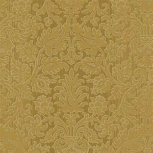The Wallpaper Company 56 sq. ft. Antique Gold Kilim Damask ...