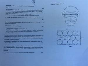 Durchmesser Berechnen Zylinder : aufgabe a und b zylinder und muffin berechnen mathelounge ~ Themetempest.com Abrechnung