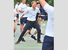 Prince Harry plays touch rugby in Manchester and Prince