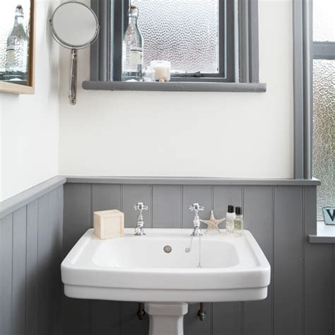 white  grey bathroom  traditional basin bathroom