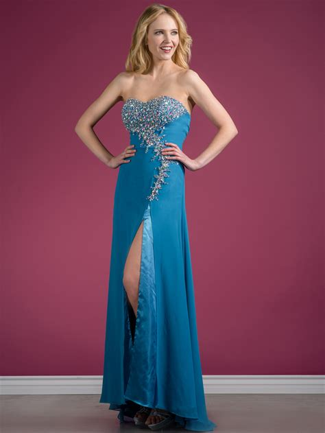 Dazzling Prom Dress with Slit | Sung Boutique L.A.