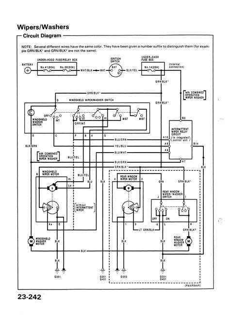 honda civic wiper switch wiring diagram windshield wiper