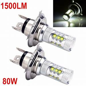 H4 9003 6000k White 80w High Power Led Bulbs For Headlight Buld Low Beam Light