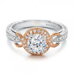 kirk kara engagement rings two tone gold and engraved engagement ring 100715 bellevue seattle joseph jewelry