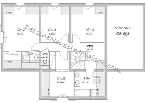 plan maison etage 4 chambres gratuit plan de maison traditionnelle gratuit plan maison plain