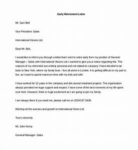 retirement letter templates 32 free sample example With retirement letter from employer to employee template
