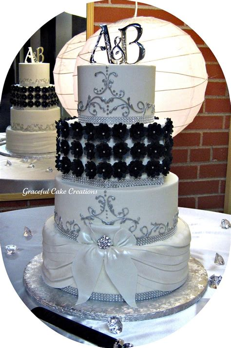 Elegant Black, White And Silver Wedding Cake  Cakecentralm. Childrens Name Rings. Ting Engagement Rings. 1st Year Wedding Rings. Unique Oval Cut Engagement Engagement Rings. Minimalist Wedding Rings. Weddbook Wedding Rings. Gothic Engagement Rings. Shotgun Barrel Wedding Wedding Rings