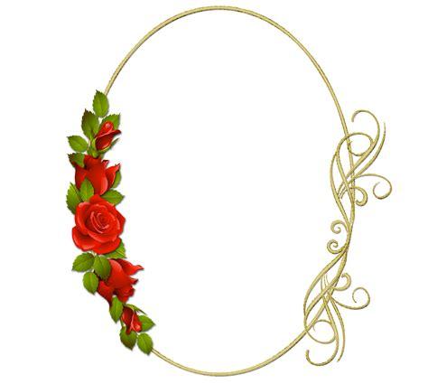 Marco de rosas para Fotos Descargar Marcos de flores PNG