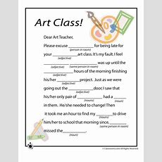 Mad Lib Worksheets  Art Class  Woo! Jr Kids Activities