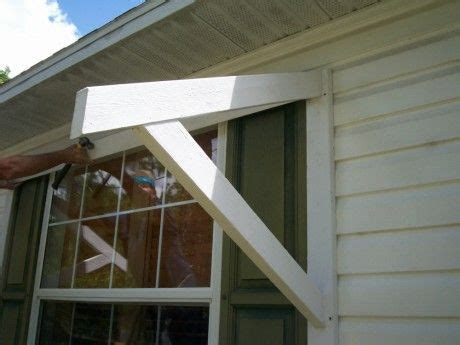 diy window awning wood bracket home projects pinterest front windows metals  window