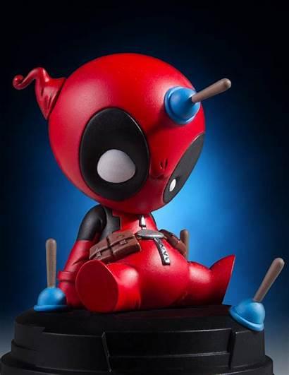 Deadpool Animated Statue Giant Gentle Marvel Mini