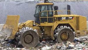 Crushing Garbage With A Cat 826h Compactor Loader