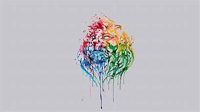 Splatter Paint Lion Simple Animals Artwork Backgrounds