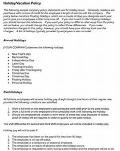 Employee Vacation Pay Paid Time Off Policy Template . Professionals ...