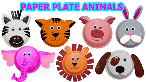 create cute animals  paper plates craft