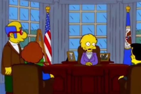 Lisa Simpson President Trump