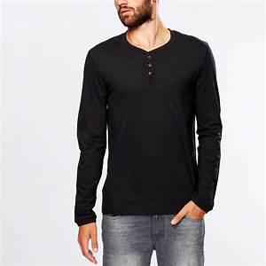 Kiabi T Shirt Homme : tee shirt col tunisien poche poitrine homme kiabi 7 00 ~ Nature-et-papiers.com Idées de Décoration