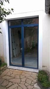 porte fenetre aluminium bleu sable With porte d entrée alu avec meubles de salle de bain style cottage