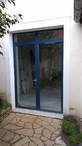 porte fenetre aluminium bleu sable With porte d entrée alu avec meuble de salle de bain couleur bleu