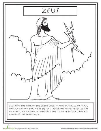 greek mythology coloring pages gods  goddesses