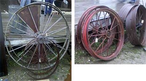 decorating  yard  wagon wheels auction finds