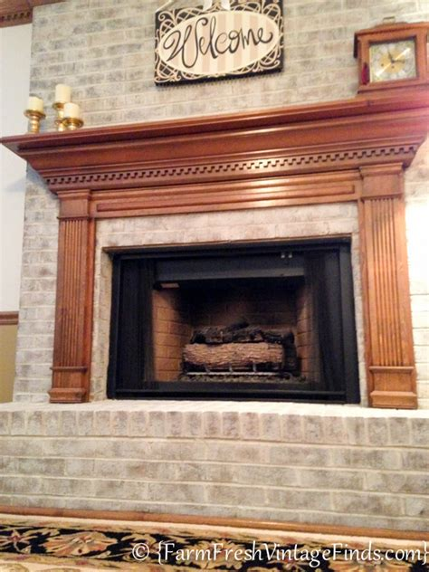 whitewashed brick fireplace how to whitewash brick farm fresh vintage finds
