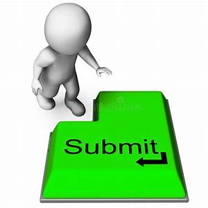 Submit Key Shows Submitting Or Applying On Internet Stock ...