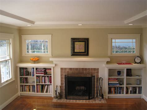 built in bookcases around fireplace i married a tree hugger our updated craftsman style