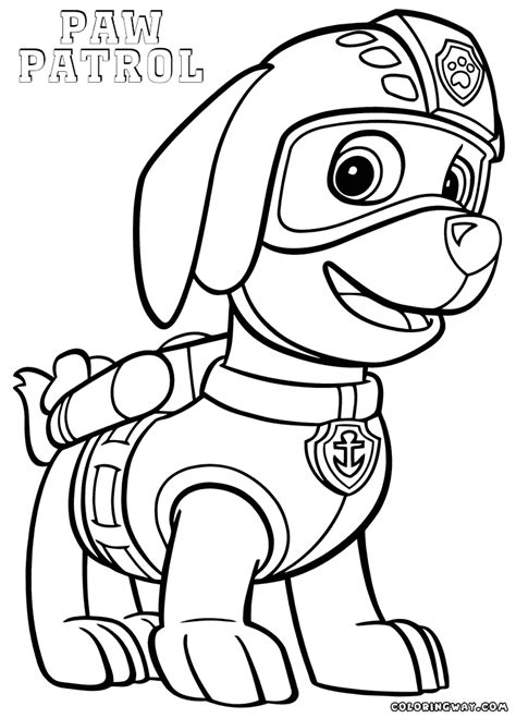 Coloring Zuma by Zuma From Paw Patrol Coloring Page Coloring Pages