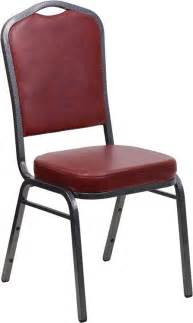 hercules series crown back stacking burgundy vinyl banquet chair from renegade coleman furniture