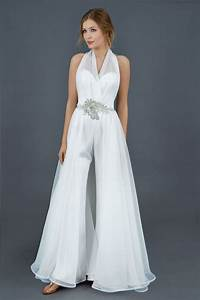 23 best images about bridal pant suits on pinterest for Pantsuit wedding dress