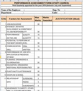 Quarterly performance appraisal form for Performance review template doc