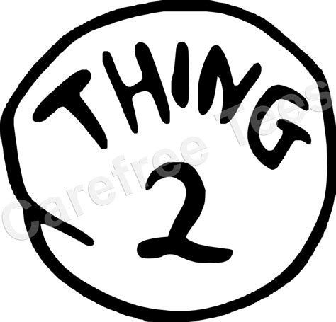 thing one t shirt template dr seuss thing 1 2 3 4 5 6 iron on shirt decal transfer ebay