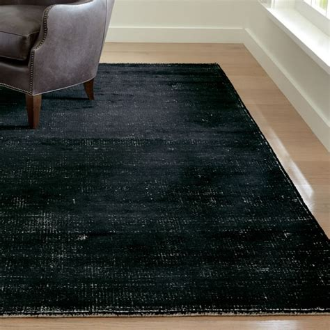 vaughn modern black rug crate  barrel