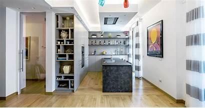 Cucina Tavolo Living Open Space Penisola Mobili
