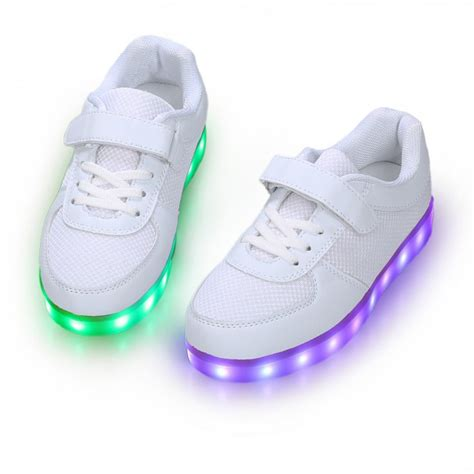 light up sneakers for youth one velcro led shoes for kids care growth