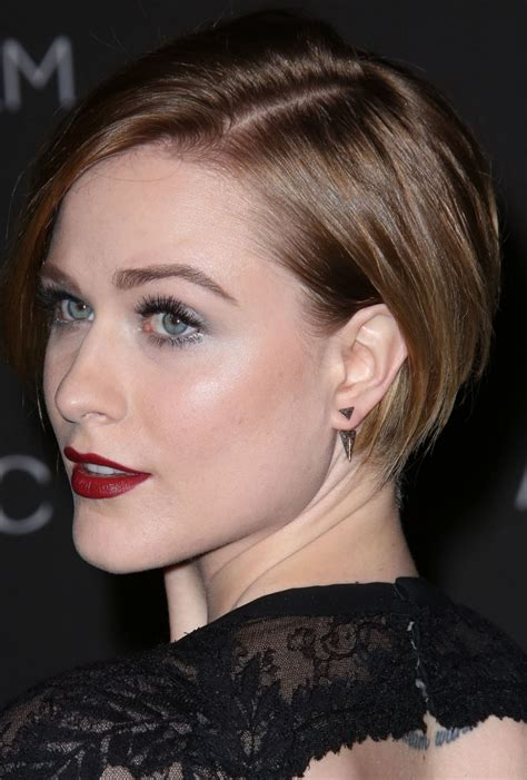 celebrity haircut inspiration evan rachel woods short undercut haircut glamour