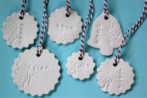 thom haus handmade simple to make pressed clay christmas decorations