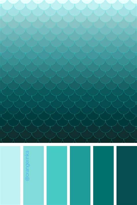 color palette ombre mermaid scales teal green aqua