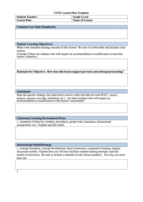 Direct Interactive Lesson Plan Template by Richard D Solomons On Mentoring Students And