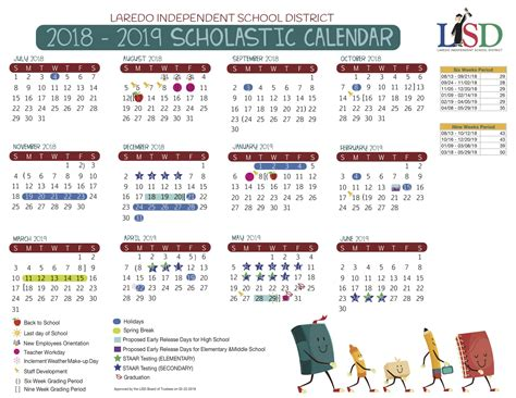 laredo independent school district calendar