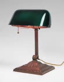 green glass shade bankers l foter