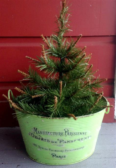diy vintage christmas tree planter reader feature the