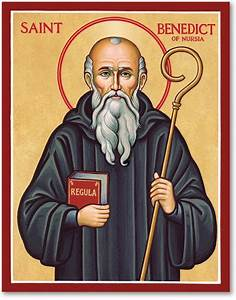 Men Saint Icons: St Benedict Icon Monastery Icons