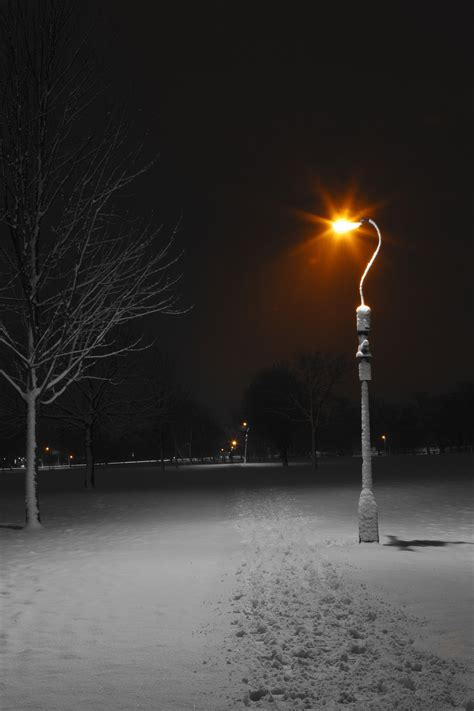 who to call when street light is out street ls at night in winter free stock photo public