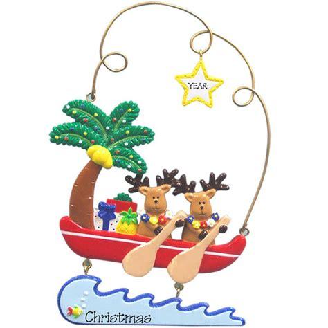 personalized hawaiian christmas ornaments princess decor