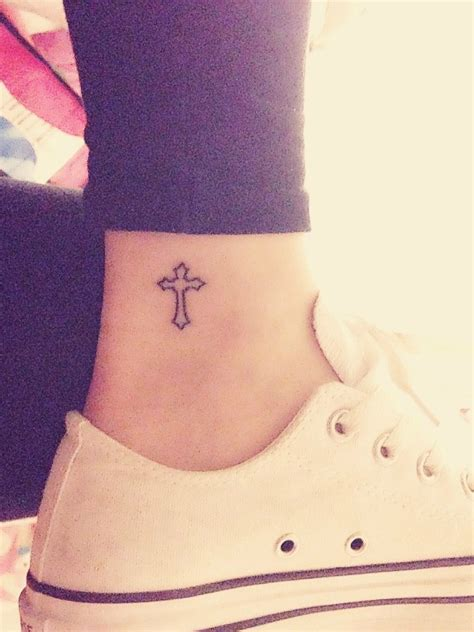 Cross Music Note Tattoo beautiful ankle tattoos   meanings   love 550 x 734 · jpeg