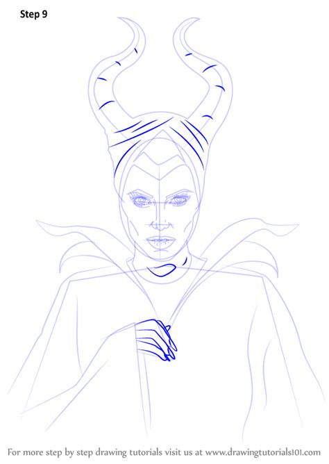 learn   draw maleficent characters step  step